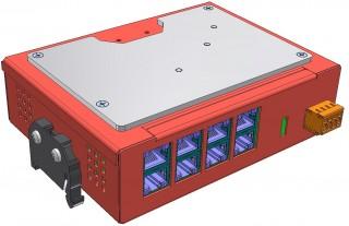 Řízený ethernetovský přepínač s PoE: ECU-08P2
