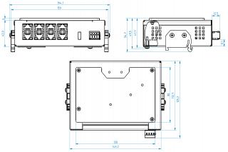 Mechanické rozměry ECU-08P2