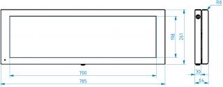 Obr. č.2: Mechanické rozměry panelu VCS290AE-45