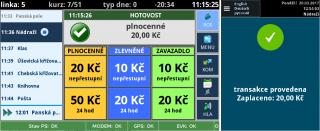 Рис. 8: Пример оплаты наличными по полной стоимости проезда на терминале водителя (слева) и на валидаторе (справа).