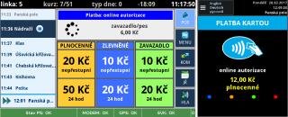 рис. 7: Демонстрация оплаты с помощью банковской карты на полную стоимость проезда и отображение на дисплее водителя (слева) и валидаторе (справа) - пожалуйста, извините за несоответствие транзакции.