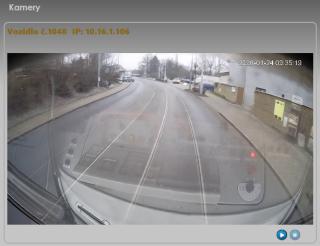 Рис. 5: Пример считывания происходящего с бортовой камеры через блок UCU 5.0 xx.