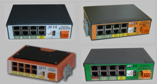 Example of the new generation of 8 port switches.