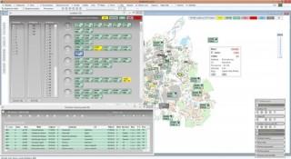 Пример возможного расположения окон диспетчерского приложения SW SPRINTER – отображение транспортных средств на рейсе (графика), на карте и автопарк.