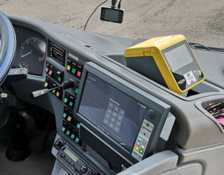 Pic.no.2: Example of the placement of an EPP 5.0A LQB checking unit in an SOR bus to make it freely accessible to passengers (a version of the EPIS 5.0A2 on-board computer).