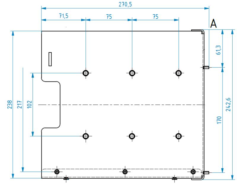Obr.č.8: Rozměry montážních otvorů.
