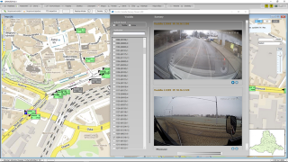 Онлайн отображение ситуации перед транспортным средством в SW SPRINTER в диспетчерской (синхронное отображение картинки с двух камер).