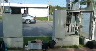 Obr. č. 1: Testovací  pracoviště zřízené u řadiče křižovatky.