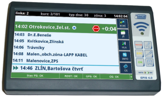 "Picture 2: ""Stationing"" display on an on-board computer for a driver."