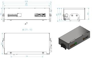 Obrázek 1: Mechanické rozměry vnitřní jednotky.