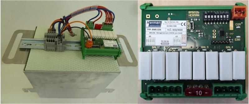 Obr. č.1: Řídicí jednotka dobíjení lithiových sestav akumulátorů.