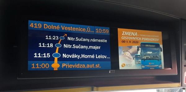 Širokoúhlé LCD VCS 290 simulující 2 obrazovky.