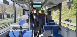 Obr. 3: Ukázka ze zkušební jízdy testovacího autobusu s komunikací pomocí V2X.