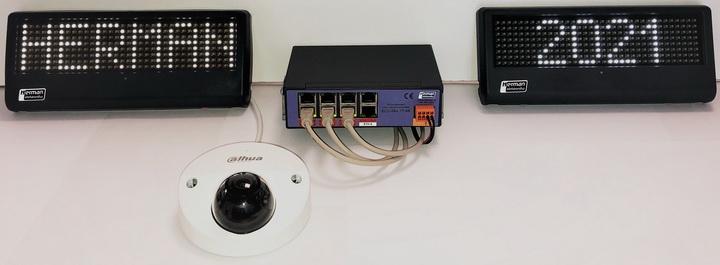 Obr. 2: Ukázka jednoduché sestavy pro napájení PoE IEE 802.3 at.