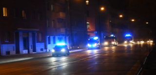 Shots of a FRS vehicle convoy going through the intersections in October 2021.