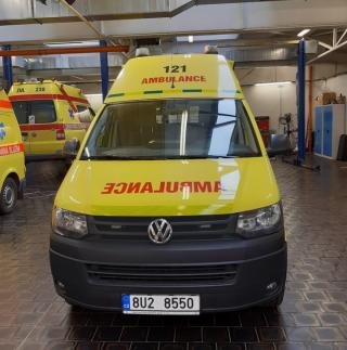 Ambulance where the OBU unit (unit UCU 5.0V) was installed